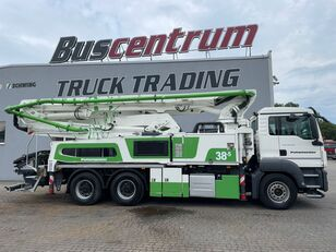 مضخة الخرسانة Putzmeister BSF 38-5.16 HLS ذات شاسيه MAN TGS 26.400 6x4 Putzmeister 38-5 m / Top Pump / German Truck